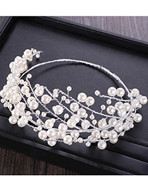 Fashion White Full Pearl Decorated Hair Accessories