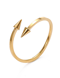 Fashion Gold Color Arrow Shape Decorated Pure Color Opening Ring