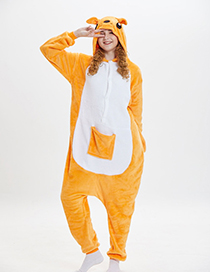 Fashion Yellow Kangaroo Shape Decorated Pajamas