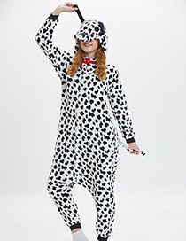 Fashion Black+white Dog Shape Decorated Pajamas