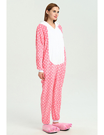Fashion Pink Dots Pattern Decorated Pajamas