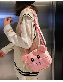 Fashion Pink Pig Shape Decorated Bag