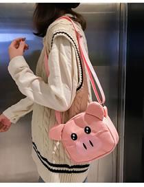 Fashion Pink Pig Shape Decorated Bag