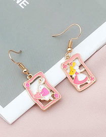 Fashion Pink Rabbit Shape Decorated Earrings