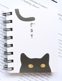 Fashion Black+white Cat Pattern Decorated Notebook(100 Sheets)