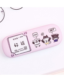 Fashion Pink Letter Pattern Decorated Glasses Case