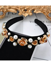 Fashion Black Pearl Decorated Pure Color Hair Accessories