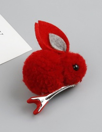 Fashion Red Rabbit Shape Decorated Hair Clip