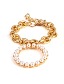 Fashion Gold Color Pearl Decorated Bracelet