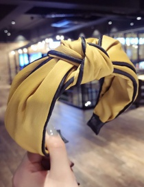 Fashion Yellow Cross Shape Decorated Hair Hoop