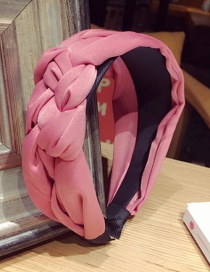 Fashion Pink Pure Color Decorated Hair Hoop