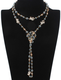 Fashion Gray Pearl Decorated Multi-layer Necklace