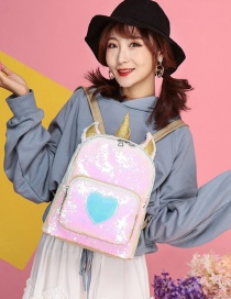 Fashion Gold Color Unicorn Shape Decorated Mini Backpack