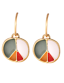 Fashion Gold Color Round Shape Design Simple Earrings