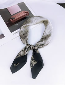 Fashion Black Honeycomb Pattern Decorated Scarf&hair Band