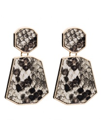 Fashion White Geometric Shape Decorated Earrings