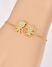 Fashion Gold Color Boy&girl Shape Decorated Bracelet