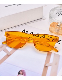 Fashion Orange Pure Color Decorated Glasses