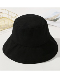 Fashion Black Pure Color Decorated Sunshade Hat