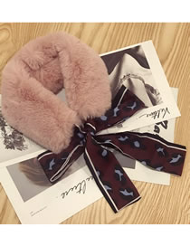 Fashion Pink Flower Pattern Decorated Scarf