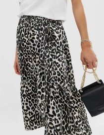 Fashion Black Leopard Pattern Decorated Skirt