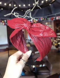 Fashion Claret Red Bowknot Shape Decorated Hair Hoop