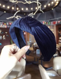 Fashion Navy Pure Color Decorated Hair Hoop
