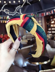 Fashion Yellow Color Matching Decorated Hair Hoop