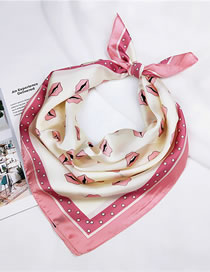Lovely Pink Lips Pattern Design Professional Scarf