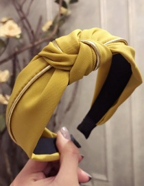 Elegant Yellow Knot Shape Design Pure Color Hair Hoop