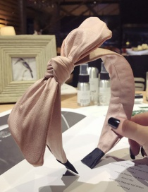 Elegant Pink Pure Color Design Bowknot Shape Hair Hoop