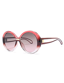 Fashion Red Pure Color Design Round Shape Sunglasses