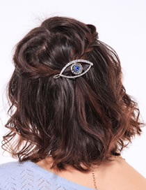 Fashion Antique Bronze Full Diamond Design Eye Shape Hairpin
