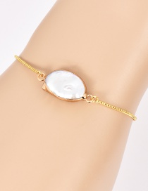 Fashion Gold Color Shell Shape Decorated Simple Bracelet