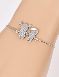 Fashion Silver Color Kids Shape Decorated Pure Color Bracelet