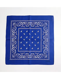 Fashion Sapphire Blue Cashew Pattern Decorated Small Scarf