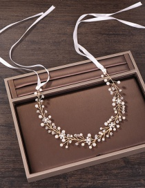 Fashion Gold Color Diamond Decorated Hair Accessories