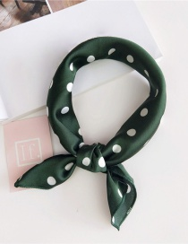 Fashion Green Dots Pattern Decorated Scarf