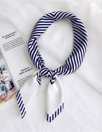 Fashion Navy Stripe Pattern Decorated Simple Scarf