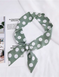 Fashion Green Bigger Dots Pattern Decorated Scarf