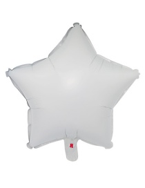 Fashion White Star Shape Decorated Balloon