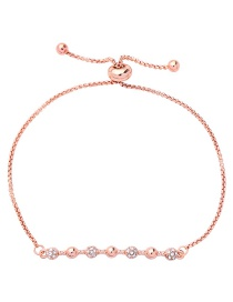 Fashion Rose Gold Diamond Decorated Pure Color Bracelet