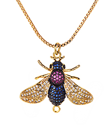 Fashion Gold Color Bee Shape Decorated Nekclace