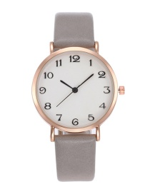 Fashion Gray Pure Color Decorated Silple Design Watch