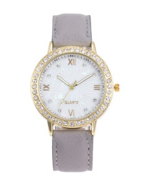 Fashion Gray Roman Numerals Decorated Watch