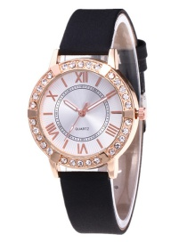 Fashion Black Roman Numerals Decorated Watch