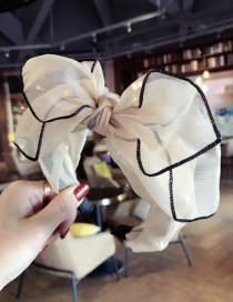 Fashion Beige Bowknot Shape Decorated Hair Hoop