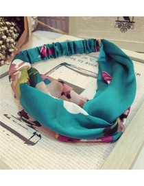 Fashion Green Geranium Pattern Decorated Hair Hoop