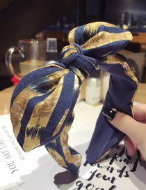 Fashion Navy Bowknot Shape Decorated Hair Hoop