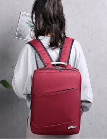 Fashion Red Wine Shoulder Computer Bag